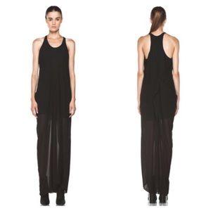 Acne Studios Magenta asymmetrical maxi dress US6